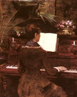 Louise Abbema - Przy fortepianie