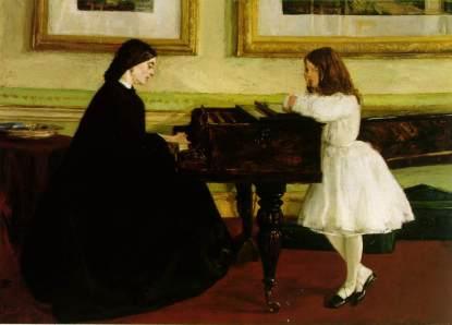 James Whistler - Przy fortepianie