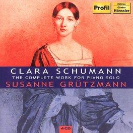 Klara Schumann - utwory na fortepian - okładka płyty