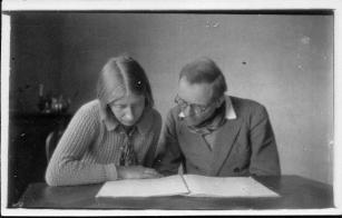 Messiaen and Claire Delbos in 1936 (Photo from the private collection of Nigel Simeone)