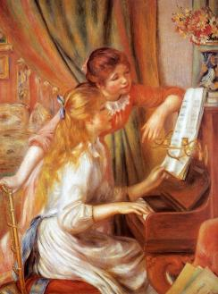 Pierre Auguste Renoir - Dziewczęta przy fortepianie