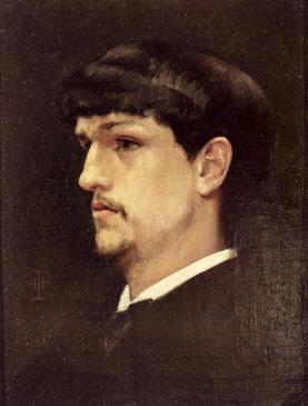 Portret Claude'a Debussy'ego pędzla Henri Ludovica Mariusa Pinty