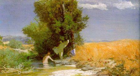 Arnold Böcklin - Kąpiące się nimfy