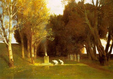 Arnold Böcklin - Święty ogród
