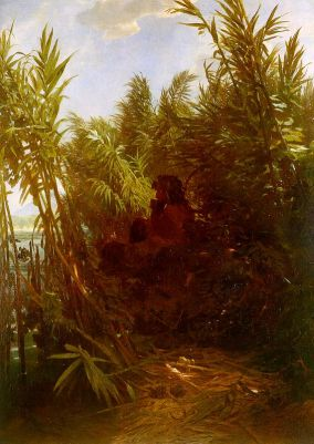 Arnold Böcklin - Pan w zaroślach