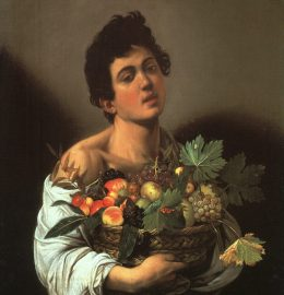 Caravaggio - Młodzieniec z koszem owoców