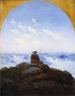 Carl Gustav Carus - Pielgrzym na szczycie wzgórza