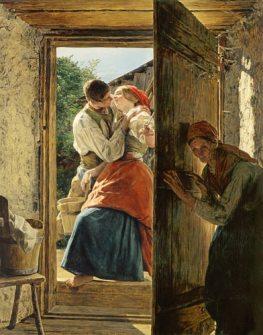 Ferdinand Georg Waldmüller - Skradziony pocałunek
