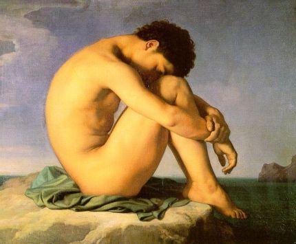 Hyppolite Flandrin - Młodzieniec nad brzegiem morza