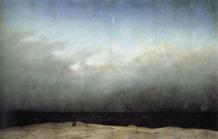 Caspar David Friedrich - Mnich nad brzegiem morza