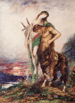 Gustave Moreau - Martwy poeta podtrzymywany przez centaura