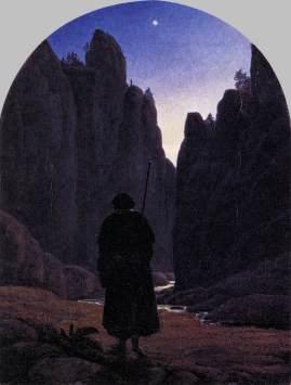Carl Gustave Carus - Pielgrzym w kamienistej dolinie