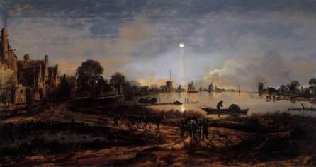 Aert van der Neer - Rzeka w świetle księżyca