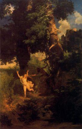 Arnold Böcklin - Uciekająca Syrinx