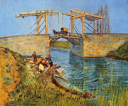 Vincent van Gogh - Kobiety piorące pod mostem w Arles