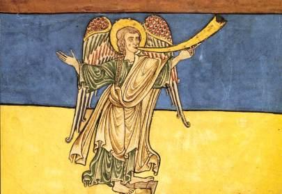 Anioł Apokalipsy proklamujący nadejście Pana (ok.1180)