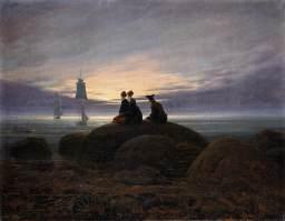 Caspar David Friedrich - Wschód słońca nad morzem