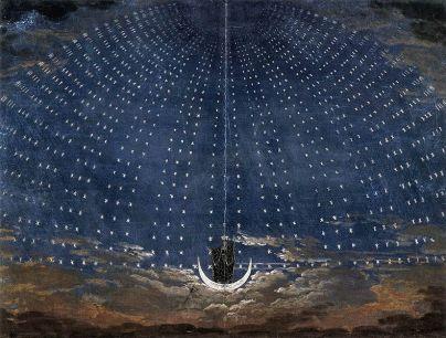 """Karl Friedrich Schinkel - Projekt scenografii do """"Czarodziejskiego fletu"""" Mozarta"""
