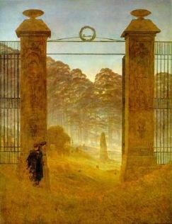 Caspar David Friedrich - Cmentarz o świcie