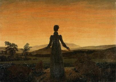 Caspar David Friedrich - Kobieta przed wschodem słońca