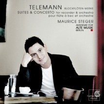 Jerzy Filip Telemann - Suity i Koncerty na flet prosty i orkiestrę (okładka płyty)