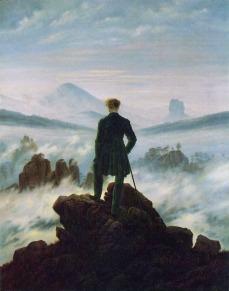 Caspar David Friedrich - Wędrowiec ponad morzem mgieł