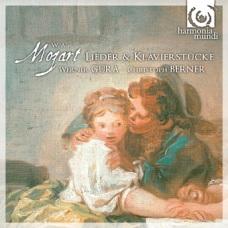 """W.A.Mozart: """"Lieder & Klavierstücke"""" (okładka płyty)"""