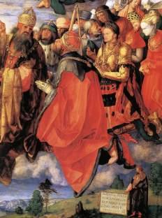 Adoracja Trójcy świętej (fragment)