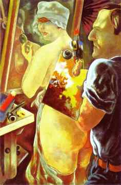 George Grosz - Artysta i modelka