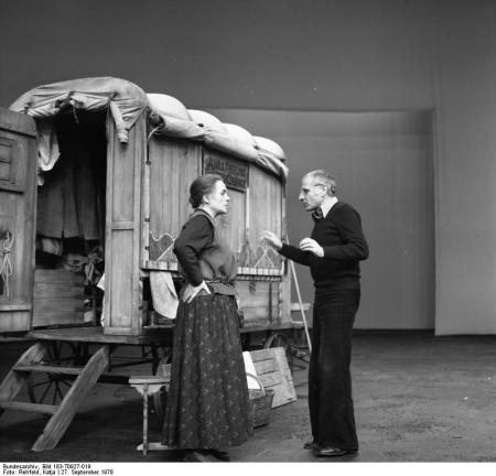 "Próba ""Matki Courage"" w Berliner Ensemble, 1973"