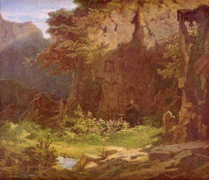 Carl Spitzweg: Samotnik grający na skrzypcach