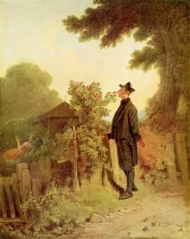 Carl Spitzweg: Zapach róż niosący wspomnienie