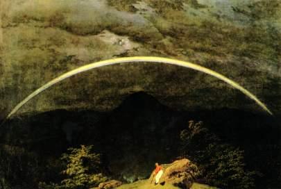 Caspar David Friedrich: Krajobraz z tęczą