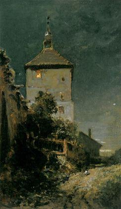 Carl Spitzweg: Wieża w Schwandorf