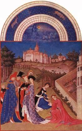 Godzinki księcia Jana de Berry: Kwiecień