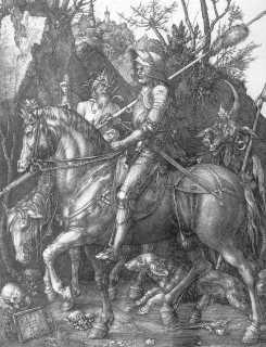 Rycerz, diabeł i śmierć (miedzioryt)
