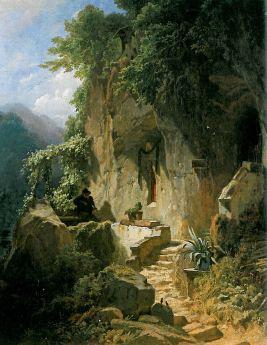 Carl Spitzweg: Muzykujący pustelnik