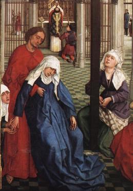Roger van der Weyden: Siedem sakramentów (detal)