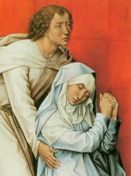 Roger van der Weyden: Ukrzyżowanie (detal)