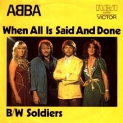 "ABBA: ""When all is said and done"" (okładka singla)"