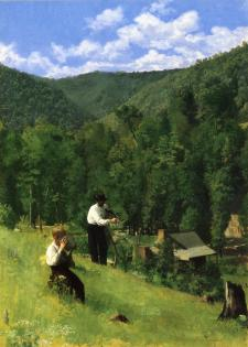 Thomas Anschutz - Farmer i jego syn przy żniwach