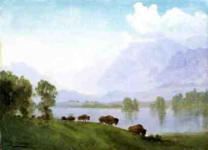 Albert Bierstadt - Kraina bizonów