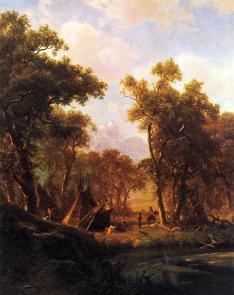 Albert Bierstadt - Obozowisko indiańskie w Shoshone