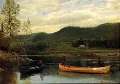 Albert Bierstadt - Mężczyźni w łodziach