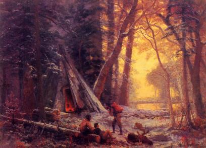 Albert Bierstadt - Obóz łowców bizonów