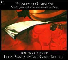 Francesco Geminiani: Sonaty na wiolonczelę i basso continuo (okładka płyty)