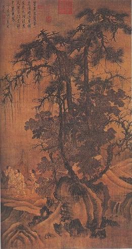 Rybacy przedzierający się przez zimowy las (za dynastii Yuan)
