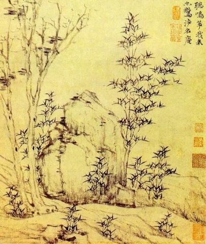 Ni Zan: Jesienne bambusy na wietrze