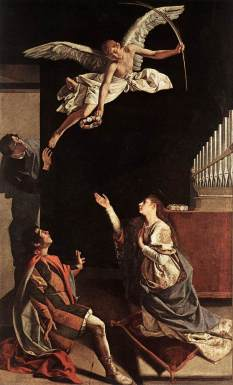 Orazio Gentileschi: śś. Cecylia, Walerian i Tyburtiusz