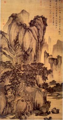 Tang Yin: Pejzaż górski